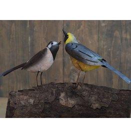 Metallfigur paar Vögel 30x15cm
