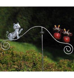 Tuinsteker balans kat en muis