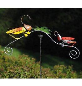 Tuinsteker balans met krekels