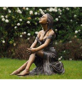 Bronze-Skulptur Sitzfrau