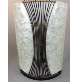 Tischleuchte Bambus oval in 3 Größen