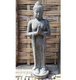 Boeddha beeld staand groetend in 4 maten