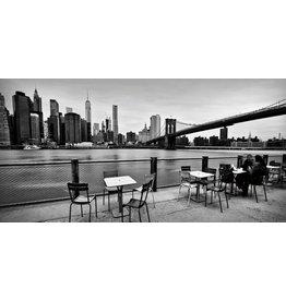 Glasmalerei 160x80cm Terrasse unter Brücke