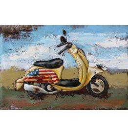 Eliassen Metaal schilderij 80x120cm Scooter 2