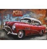 3D-Metall-Malerei 120x80cm Red Car