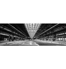 Glasmalerei 120x40cm Industrie