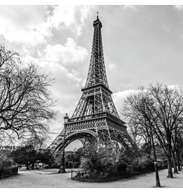 Glasschilderij 100x100cm Eiffeltoren