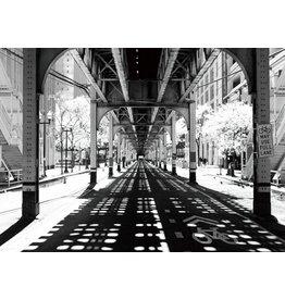 Glasschilderij 70x50cm Onder brug