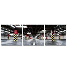 Glasmalerei 80x80x0,4cm 3 Liège Garage