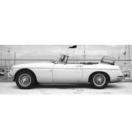 Eliassen Glasmalerei 160x60cm Weiß Cabrio
