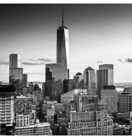 Glasschilderij 80x80cm Nieuwe toren NY