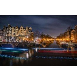 Glasschilderij 160x110cm Amsterdam