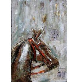 Eliassen Metaal schilderij Horse 80x120cm