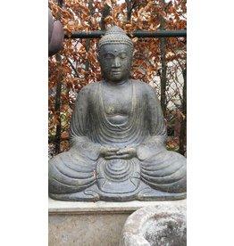 Japanische Buddha Skulptur im Lotus ist in 3 Größen