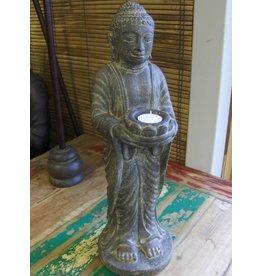 Boeddha beeld staand kandelaar