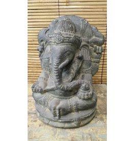 Eliassen Ganesha in lotus zit 31cm