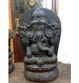 Ganesha in lotus zit 28cm