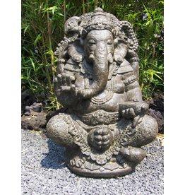 Ganesha in lotus zit in 2 maten