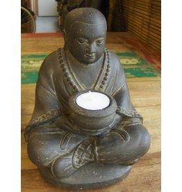 Boeddistische monnik met schaaltje