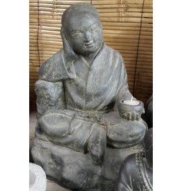 Shaolin monnik zittend
