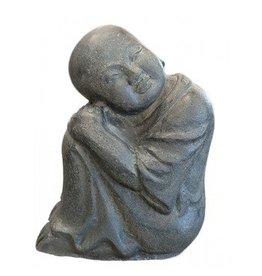 Kinder Mönch sitzt