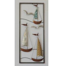 Wanddekoration Boote 3 25x60cm