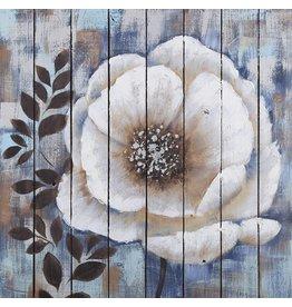 Olie op hout schilderij Flowers 3 80x80cm