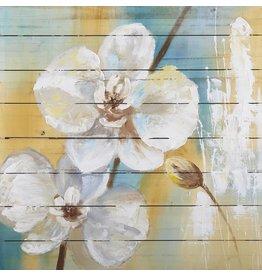 Öl auf Holz Malerei Blumen 5 80x80cm