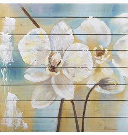 Eliassen Öl auf Holzmalerei Blumen 6 80x80cm