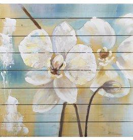 Olie op hout schilderij Flowers 6 80x80cm