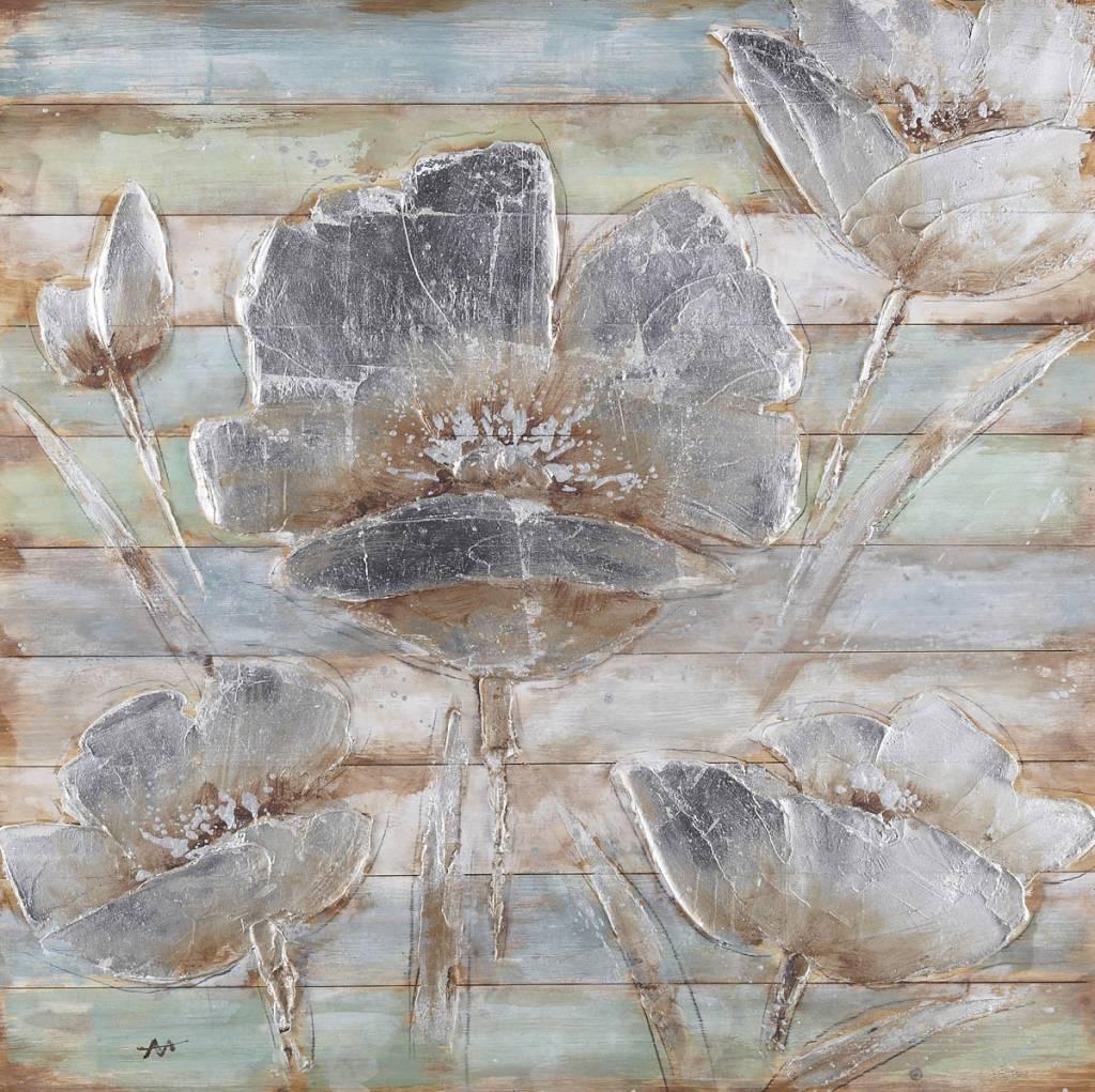 öl Auf Holz Malen Blumen 8 100x100cm Eliassen Home Garden Pleasure