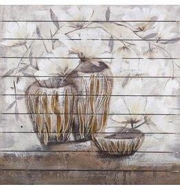 Olie op hout schilderij Pots 3 100x1100cm