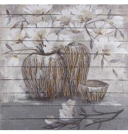 Eliassen Öl auf Holzmalerei Töpfe 4 100x100cm