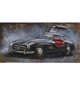Metall Malerei mercedes1 120x60cm