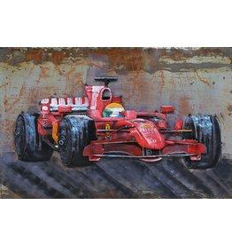 Eliassen Metaal schilderij Formule1 120x80cm