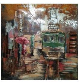Eliassen Metaal schilderij Chaos 100x100cm