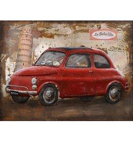Metall Malerei Fiat 500 60x80cm