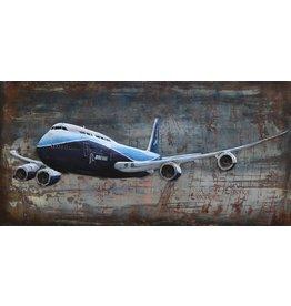 Metalen 3D schilderij 747 140x70cm