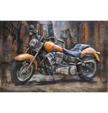 3D-Metall-Malerei Harley 3 120x80cm