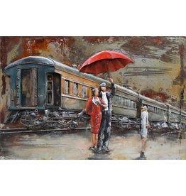 Metalen 3d schilderij Perron 120x80cm