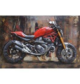 Metalen 3d schilderij Racer6 120x80cm