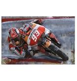 3D-Metall-Malerei MotoGP 120x80cm
