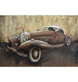 3D schilderij metaal 80x120cm Mercedes
