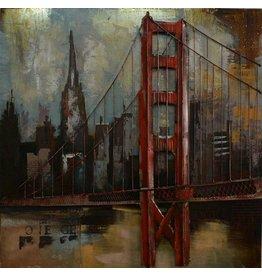 3d schilderij metaal Brooklyn 100x100cm