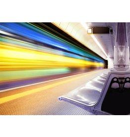 Glasmalerei 50x70x0,4cm Express Train