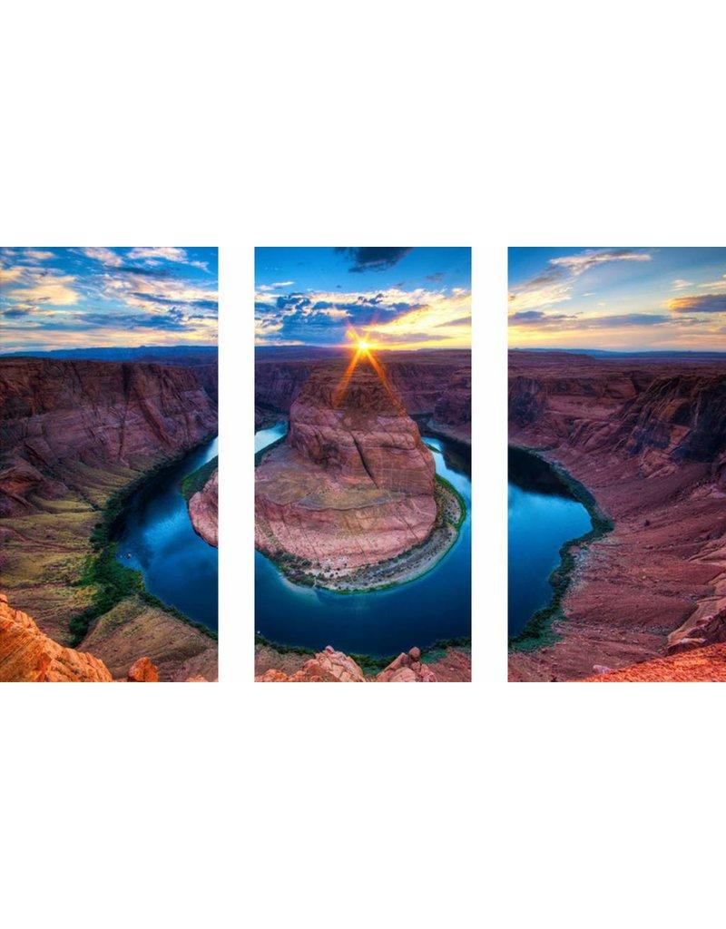3 Luke Glasmalerei 120x80cm Vulkan