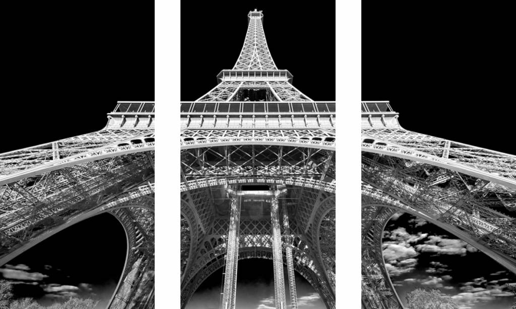 Eliassen 3 luik glasschilderij 120x80cm Eiffeltoren