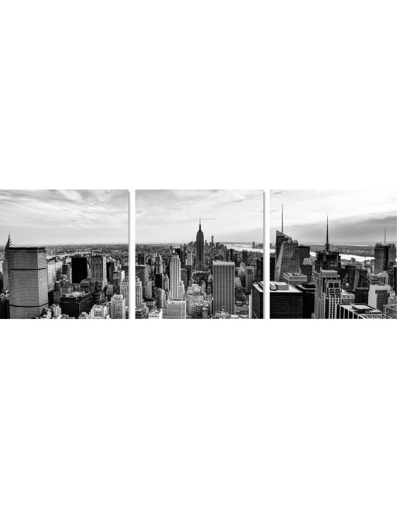 3luik Glasmalerei 60x180cm Stadt