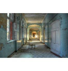 Glas schilderij Landhuis 110x160cm