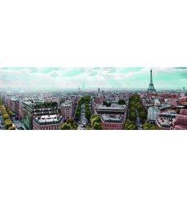 Glas schilderij 45x140cm Parijs